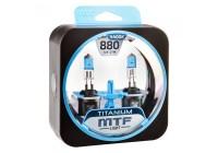Галоген MTF набор H27 (880) 12V 27w Titanium/4400К.