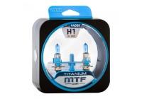 Галоген MTF набор H1 12V 55w Titanium/4300К.