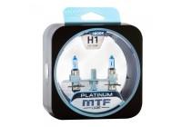Галоген MTF набор H1 12V 55w Platinum/3800К.