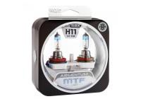 Галоген MTF набор H11 12V 55w Argentum/3500K.