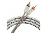 Провод соединительный KICX FRCA21 RCA Межблочный кабель (1 м)