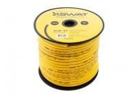 Провод силовой SWAT SCW-4Y (4Ga -1m) омедненный алюминий - ССА/цвет желтый