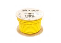 Провод силовой SWAT SPW-4Y/APS-045Y (желтый 4Ga -1m) медь 99,99%