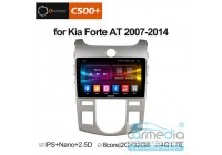 Kia Cerato II 2008-2013 (TD) с климат-контролем  CARMEDIA OL-9736-A-MTK (Ownice C500+) Штатное головное мультимедийное устройство на OS Android