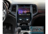 JEEP Grand Cherokee 2013+ черная CARMEDIA ZF-1823-P6 Tesla-Style Штатное головное мультимедийное устройство