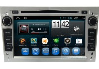 Штатная магнитола для Opel Astra H, Vectra С, Corsa D, Antara, Vivaro, Meriva, Zafira (серебро) CARMEDIA QR-7132-s-T8 на OC Android 7.1.2