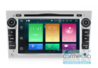 Штатная магнитола для Opel Astra H, Vectra С, Corsa D, Antara, Vivaro, Meriva, Zafira (серебро) CARMEDIA RD-2801D-9 DSP на OS Android 9.0