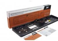 Камера заднего вида AMP LC-001LED в рамке номерного знака c подстветкой (Черная)