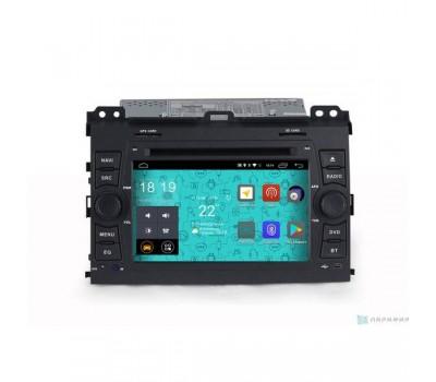 Штатная магнитола Parafar 4G/LTE с IPS матрицей для Toyota Land Cruiser Prado 120 2002-2009 с DVD на Android 7.1.1 (PF456D)