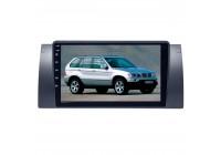 Штатная магнитола для BMW 5 series E39 E53(X5) LeTrun 3153-4257 9 дюймов IN Android 10.x 3+32 Gb 8 ядер DSP ++