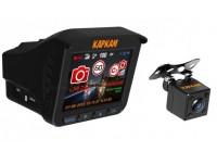 Каркам Комбо 3S (+камера заднего вида) видеорегистратор + радар-детектор (Комбо)